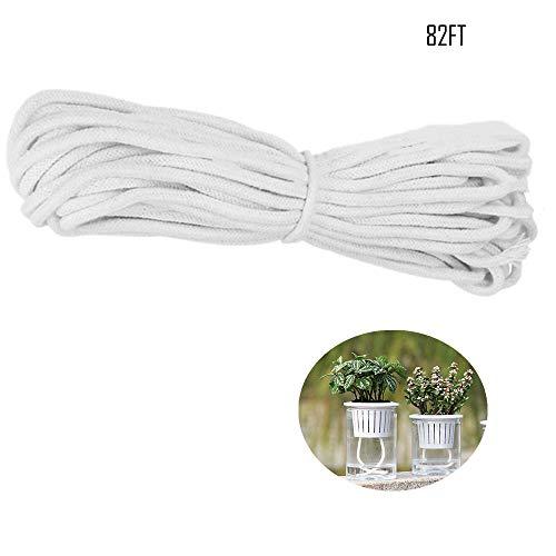 SUNANFBEST 25M/82FT Selbstbewässerung Docht, Bewässerungsseil Tropfbewässerung Seil für selbst bewässern Pflanzer Topf Automatische Bewässerung Indoor Topfpflanze -
