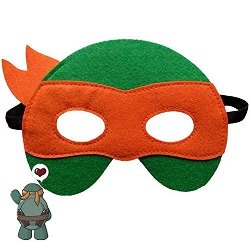 Ninja Turtles Maske Captain America Teenage Mutant Ninja Turtles The Avengers Kid Geburtstagsgeschenk Cosplay Party Masken (Color : Orange)