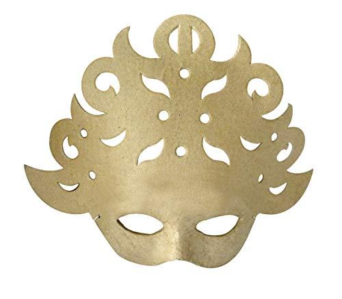 Décopatch AC333O Maske Karneval Barock aus Pappmaché, 8 x 25 x 21 cm, zum Verzieren, - Pappmaché Kostüm
