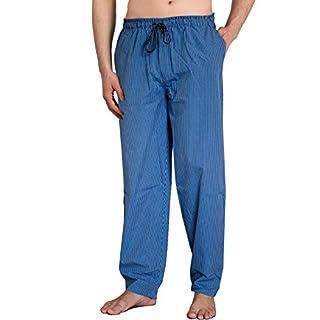 Moonline - Herren Webhose Freizeithose Loungewear aus 100% Baumwolle, Größe:50/52, Farbe:Jeansblau