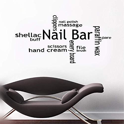 wandaufkleber fussball Nail Bar Shellac Buff Hand Cream File Brush For Beauty Salon Barbershop Home Decor