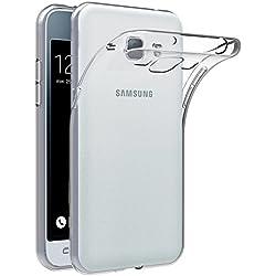 AICEK Coque Samsung Galaxy J1 2016, Etui Silicone Gel Samsung Galaxy J1 2016 (J120F) Housse Antichoc Samsung J1 Transparente Souple Coque de Protection pour Samsung Galaxy J1 2016 (4.5 Pouces)