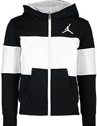 de49cc62f1fbab Jordan Nike AIR Black White Contrast Zipped Hoodie Sweatshirt Hoodie Size 7  Year