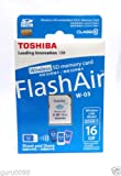 TOSHIBA FLASH AIR WIRELESS SD CARD 16 GB SDHC CLASS 10 at amazon