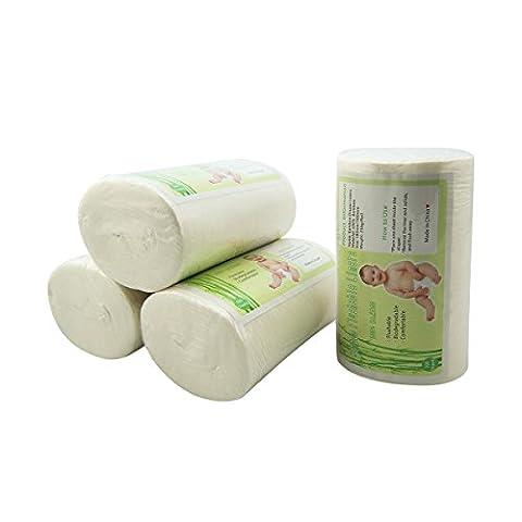 Alva bébé lot de 4 doublure de couche jetable en bamboo biodegradable 4BBT01-FR