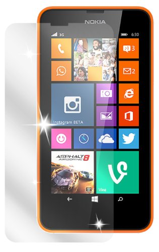 dipos I 2X Schutzfolie klar passend für Nokia Lumia 630 / Lumia 635 Folie Bildschirmschutzfolie