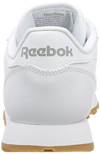 Reebok Cl Lthr, Scarpe da Ginnastica Donna Bianco (White / Gum)