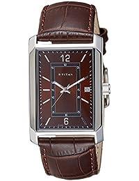 Titan Analog Brown Dial Men's Watch-NL1697SL02