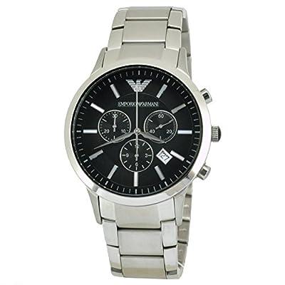 Reloj Emporio Armani AR2434 de cuarzo para hombre con correa de acero inoxidable, color plateado de Armani