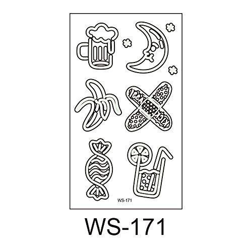 lloween, Leuchtend, Kinder Tattoo Aufkleber, Umweltschutz, wasserdicht, Schweiß, lustige Cartoon Einweg Aufkleber 20 10,5x6cm ()