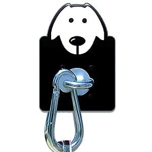 veterinaria perro: gancho de pared para perro con mosquetón de acero inoxidable, correa de liberaci...
