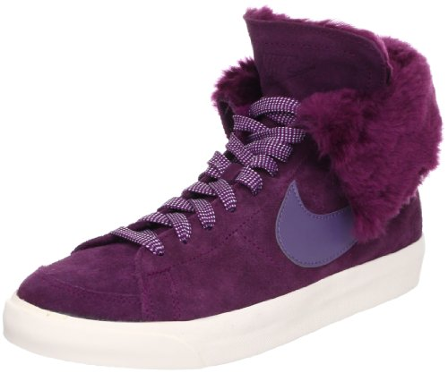 Nike blazer high roll lth Bordeaux