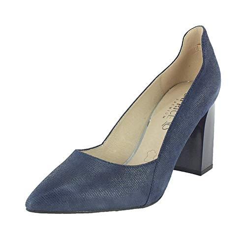 CAPRICE Damen Effi Pumps, Blau (Blue Jeans Sue 802), 38 EU Jeans-pumps