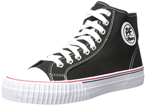 pf-flyers-center-lo-mens-black-canvas-lace-up-trainers-shoes