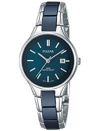 Pulsar Uhren PH7269X1 - Reloj analógico de cuarzo para mujer con correa de cerámica, color negro