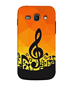 FUSON Designer Back Case Cover for Samsung Galaxy Ace 3 :: Samsung Galaxy Ace 3 S7272 Duos :: Samsung Galaxy Ace 3 3G S7270 :: Samsung Galaxy Ace 3 Lte S7275 (Disco Inferno Abstract Background With Musical Notes)