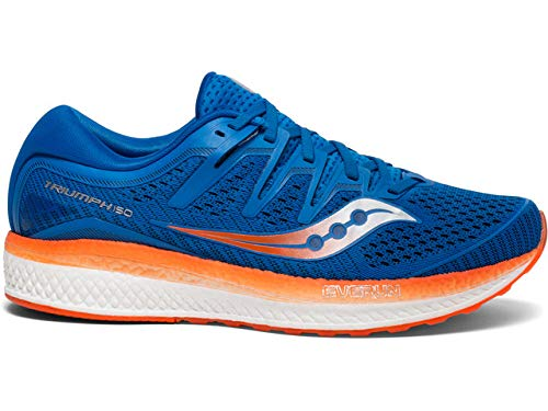 Saucony Triumph ISO 5, Scarpe Running Uomo, Blu (Blue/Orange 36), 45 EU