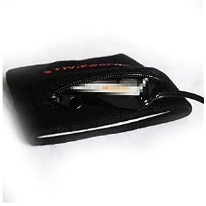 AddoraMulti-funzionali Polso Sport Cerniera Asciugamano Elastico Polso Universale Nero