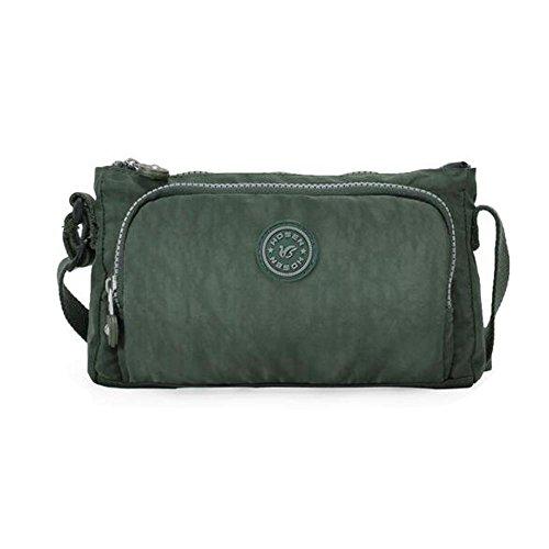 HTRPF wasserdichtes Schulter-Tuch im Freien Spielraum-Beutel-Farbe gewaschene Tuch-Beutel army green
