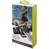 "Muvit MUARM0029 - Brazalete fino universal para Smartphone (4.7 - 5.7"", incluye bolsa de deporte), color negro"