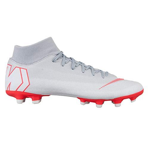 Nike Unisex-Erwachsene AH7362 Sneakers, Mehrfarbig (Wolf Grey/Lt Crimson/Pure Platinum 001), 40 EU (Mercurial Damen-fußballschuh)