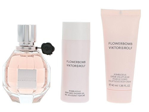 Viktor & Rolf Flowerbomb Lot Contient Eau de parfum en flacon vaporisateur 50 ml/gel douche 50 ml et crème pour le corps, 40 ml