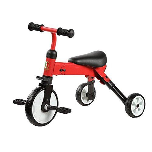Bicicleta plegable de la vespa del niño del triciclo de los niños que dobla GAOLILI Color : Rojo