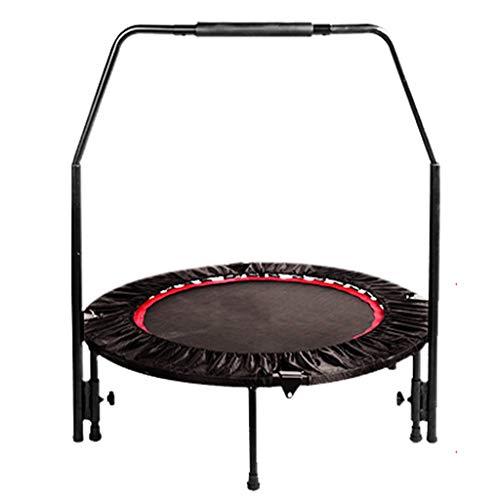 LWY Tragbares Fitness-Trampolin - Mit Klappbaren Armlehnen - Aerobic-Mute-Trainer FüR Erwachsene - Kann Bis Zu 400 Kg Standhalten PP Jump Cloth