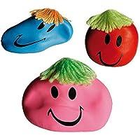 CT 3X Anti-Stressbälle Smile/Wutball/Farbe: je 1x Blau, Rot + Pink preisvergleich bei billige-tabletten.eu