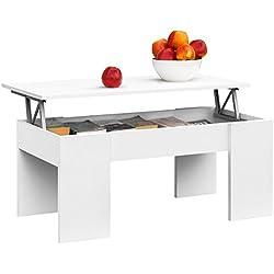 Mesa de Centro Elevable Moderna Mesita de Café Comedor o Salón