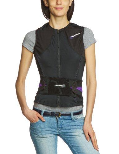 Komperdell Damen Protektor Vest Cross Women, schwarz-Purple, L, 6152