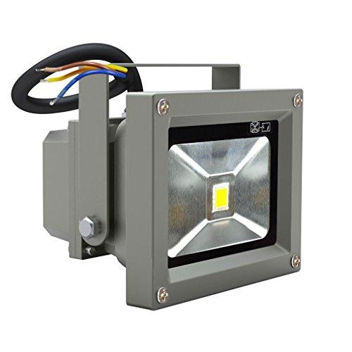 Leetop 2X Top-Qualität 10W LED Lampe Fluter Scheinwerfer IP65 Warmweiß Schwarz Aluminium Flutlicht Wasserdicht Strahler -