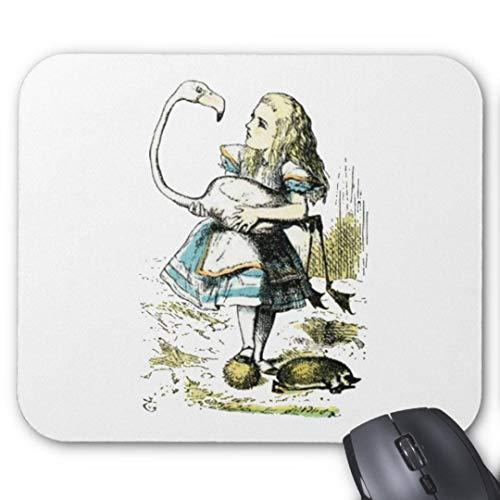 Mauspad 20*24cm Mousepad in Standard-Gr??e, rutschfest-Alice die Flamingo leichte Pastelle -