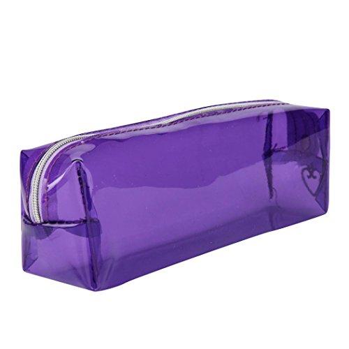 Beauté Top BoîTe à Crayons Couleur Candy Ecole Transparente Girl Kawaii ÉTui à Crayons Scolaire – Clear backpack