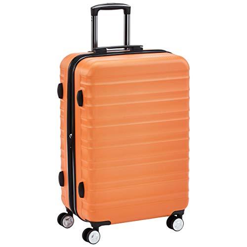 AmazonBasics  - Maleta rígida giratoria prémium de 68 cm, naranja