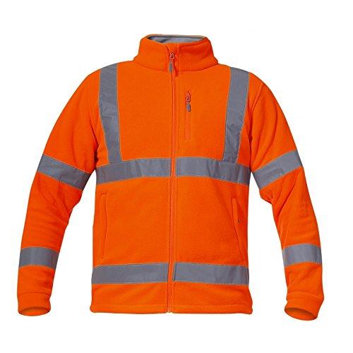 Preisvergleich Produktbild LAHTI PRO L4011006 Warnschutz-/Fleece Jacke Arbeitsjacke EN 13688/EN ISO 20471 Größe, Orange, 3XL/60