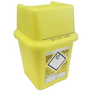 4L Sharpsafe Behälter für gelb Bio Hazard Klinge Spritze Nadel klinischen gekennzeichnet Müll Box mit scharfen Mülleimer