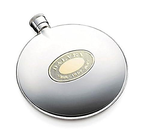 Dalvey Classic Compact Gold Detail Hip Flask (75ml)