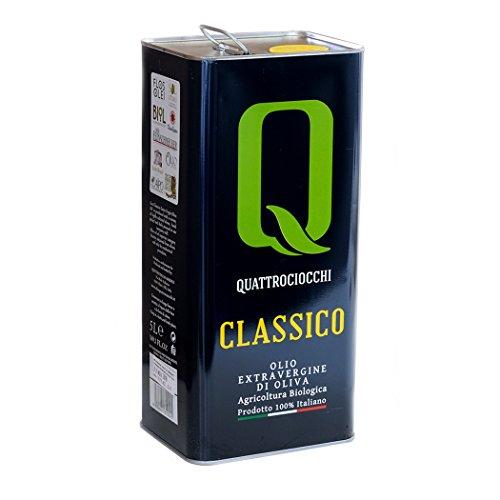 Olio extra vergine di oliva classico biologico quattrociocchi 5lt