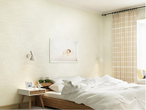 San Tai@Modern Retro Wohnzimmer Vliestapete Flock Tapeten ,10m (32,8 ft) lang, 52cm (20,8 Zoll) breit, umfasst 55 qm