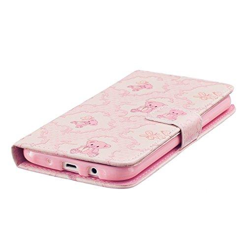 Custodia per iPhone 6s Plus Rosa,TOCASO Flip Case PU Pelle [Wallet Design] Caso per iPhone 6s Plus Portafoglio Cover Ultra Sottile Leather Protettivo Cases Covers Shell ID Carta Slots Caso Guscio Cope #6