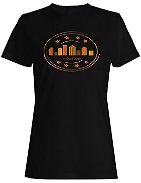 Nuevo Houston Usa Retro Logo camiseta de las mujeres l999f