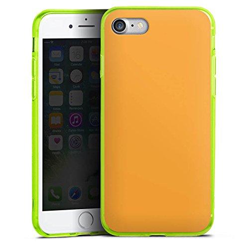 Apple iPhone 8 Silikon Hülle Case Schutzhülle Melonen Farbe Orange Silikon Colour Case neon-grün