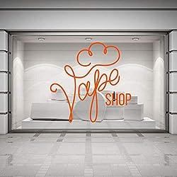 ZJfong Cigarette électronique Stickers Muraux Signe De Magasin Vinyle Stickers Murale Magasin Fenêtre Décoration Murale De Mode Autocollant 57x57cm