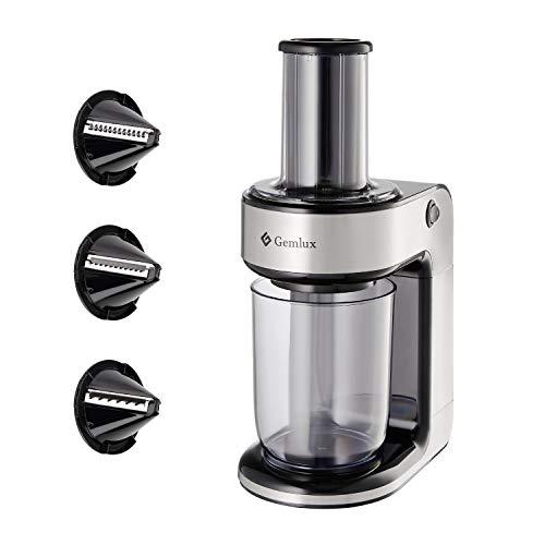 Gemlux Spiralizer | Elektrischer Obst- und Gemüseschneider | Einfach zu bedienender Schneider aus Edelstahl für Gurken, Zwiebeln und Kartoffeln | Ideales Geschenk für den Heim-Haushalt SR-1003