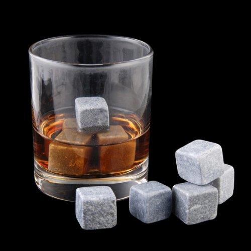 Espeedy 3pcs Marmor Stein Ice Cubes Chillers für Whisky Wein Getränke Getränke
