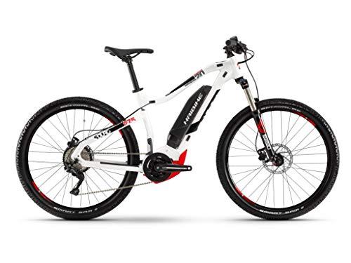 Haibike 2019 Sduro HardSeven 2.0 - Bicicleta eléctrica (27,5\'\'), Color Blanco, Negro y Rojo, Color Blanco, Negro y Rojo, tamaño Large, tamaño de Rueda 27.50