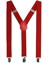 HBF Unisex Tirantes Elástica Ajustable Ancho 2.5 cm Para Hombre Y Mujer