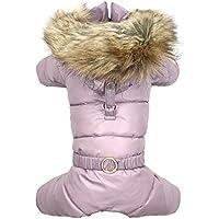 Puppy Angel Love Pattern Female Dog Hoodie–Pink–M