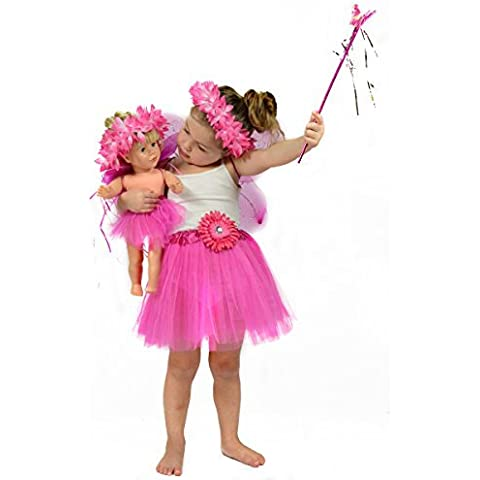 Princess / Fairy Dress Up Costume for Girls - Pretend Play Clothing Matching for Girls and 18 inch Dolls - Fits American Girls by The New York Doll Collection
